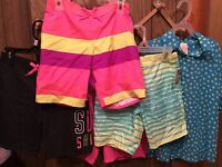 Girls Summer Lot Clothes Size 7/8 Op Shorts (4) And Polka Dot Shirt