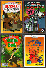 4 LADYBIRD BOOKS Winnie the Pooh Jungle Book Transformers Basil Mouse Detective