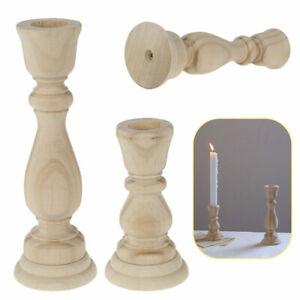 Kerzenstaender-10-17cm-Vintage-Kerzenhalter-Kerzenleuchter-Shabby-Chic-Holz-Dekor