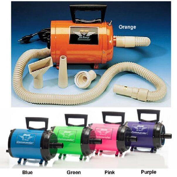 Metro Commander AFTD-1V 120 Volt Variable Speed Pet Dog Hair Dryer in 5 colors