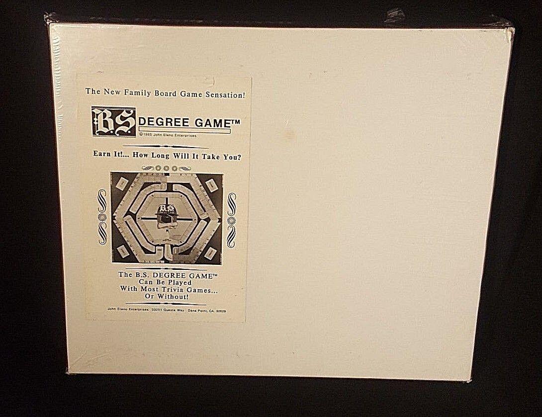 B.S. DEGREE DEGREE DEGREE GAME 1985 VTG 80's Sealed Board Game Rare Obscure College Graduation e0619b