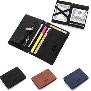 Men-Slim-Wallet-PU-Leather-Credit-Card-Holder-Coin-Zip-Bag-Money-Clip-Billfold
