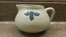 "Pfaltzgraff USA Yorktowne Blue 4"" Pot Belly Gravy Boat Creamer Pitcher Pottery"