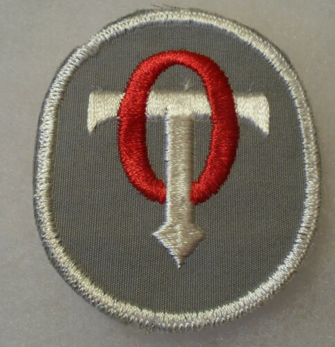 THERAPIST PATCH EMB.ON TWILL GAUZE BACK RARE FIRST DESIGN WWII ERA CADET OCCUP