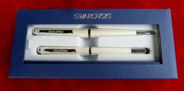 SWAROVSKI Crystal 2 Starlight Ballpoint Stylus Pen Set White 5224364 NEW