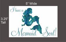 I have a Mermaid Soul car vinyl decal great stocking stuffer bumper sticker NEW