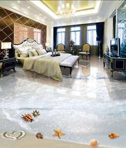 ozean strand seestern 3d fu boden wandgem lde foto bodenbelag tapete zuhause ebay. Black Bedroom Furniture Sets. Home Design Ideas