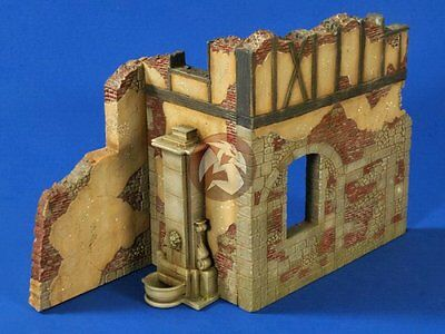 Verlinden 1/35 German Ruined Old Building Corner Section with Fountain WWII 2643