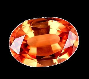 2.10 Ct Natural Fire Orange Sapphire Oval Certified Stunning Tanzania Gemstone