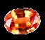 thumbnail 1 - 2.10 Ct Natural Fire Orange Sapphire Oval Certified Stunning Tanzania Gemstone