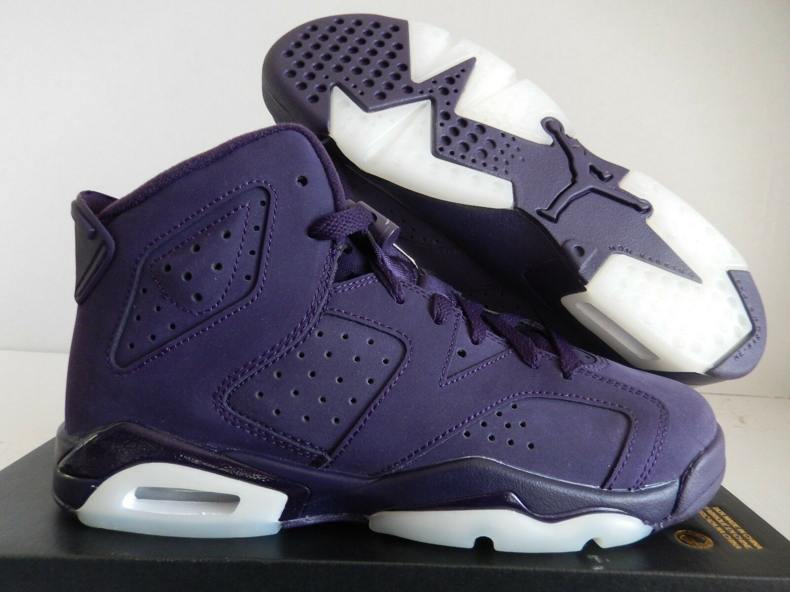 NIKE AIR JORDAN 6 RETRO GG PURPLE DYNASTY SZ 7Y- femmes SZ 8.5 [543390-509]