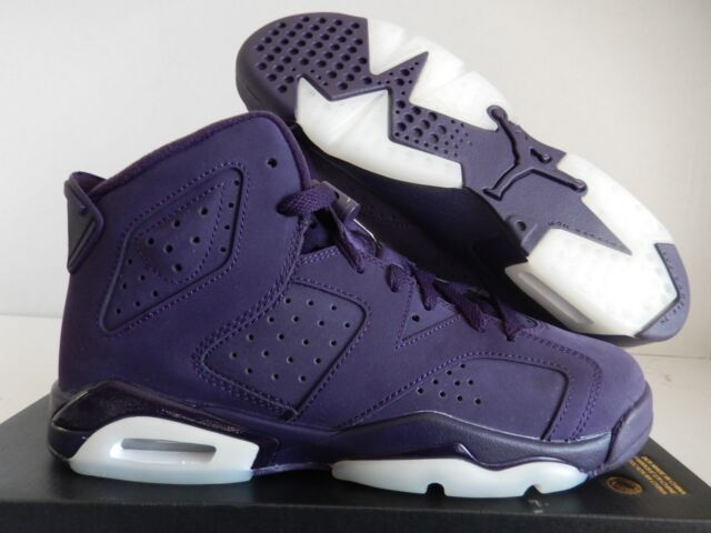 Nike Air Jordan Retro VI 6 Dark Purple Dynasty White Size 6y - GS ... f328ded1a