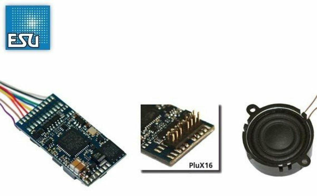 ESU 56498 Loksound V4.0 DCC Sound Decoder & Speaker Plux16 NEM 658 MODELRRSUPPLY