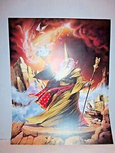1988-Scafa-Tornabene-Wizard-Holding-Sphere-16-034-x-20-034-Fantasy-Wall-Art-Print