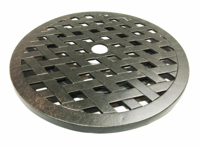 "Lazy Susan turntable 21"" cast aluminum platform rotates 360 degrees Bronze"