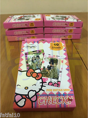 Instax Film Stickers HELLO KITTY 10pcs Polaroid For FujiFilm Mini 8 7S 25 50S