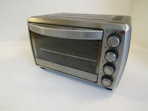 oster countertop toaster oven stainless black 1200w tssttvcg01 ebay rh ebay com Oster Convection Toaster Oven Oster Convection Oven Table Top