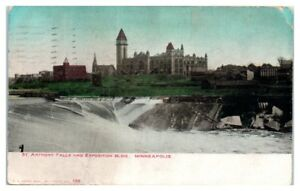 1911-St-Anthony-Falls-and-Exposition-Building-Minneapolis-MN-Postcard