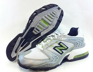 Details about Womens New Balance 970 L2 White Lime Green Navy Blue Running Sneakers Shoes