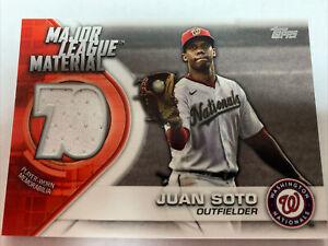 2021 Topps Major League Material Relics #MLMJS Juan Soto (Washington Nationals)