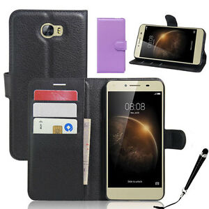 new style 4e4fa 3459a Details about HQ Wallet Money Card Leather Case Cover Vodafone Huawei Y6  Elite / Y5 II 2 /Y511