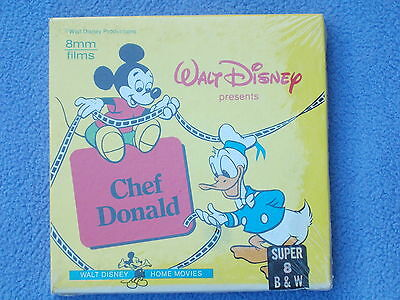 + New - Chef Donald - Donald Duck - 1941 - Walt Disney - Super 8 - B/W/Sil +