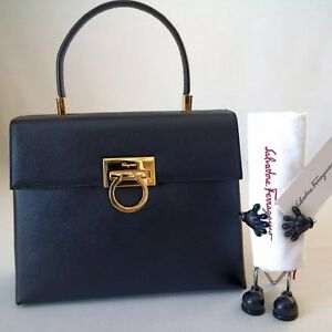 9fd772245b5e Image is loading NWOT-SALVATORE-FERRAGAMO-CLASSIC-SAFFIANO-LEATHER-KELLY- HANDBAG-