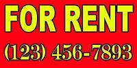 For Rent Custom Banner Big ( 60x30 )