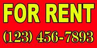 For Rent Custom Banner Big ( 60x30 )