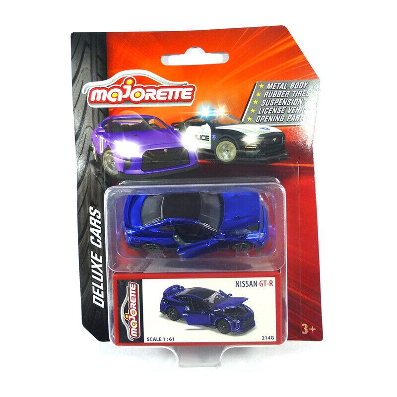 MAJORETTE 212053152 NISSAN GT-R Bleu Brillant-deluxe cars échelle 1 61 NOUVEAU  °