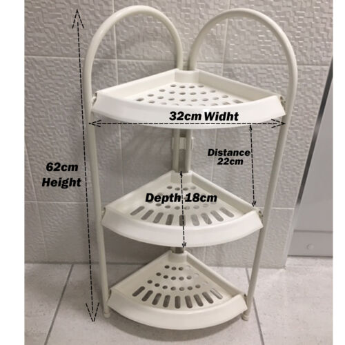 Kitchen Bathroom Rack Shower Caddy Shampoo Basket Corner Shelf