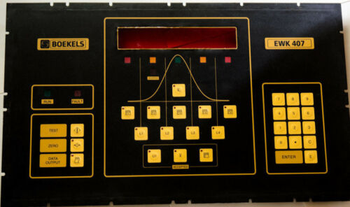 BOEKELS Front Panel Keypad for EWK 407 series checkweighers