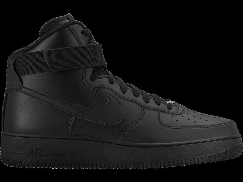 81cf3862ae24 NEW 315121-032 Men s Nike Air Force 1 1 1 High  07 Shoe!! BLACK ...