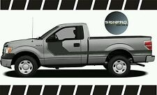 F150 Solid Side Body Hockey Graphics Decals Stripes 2014-16 Ford customize