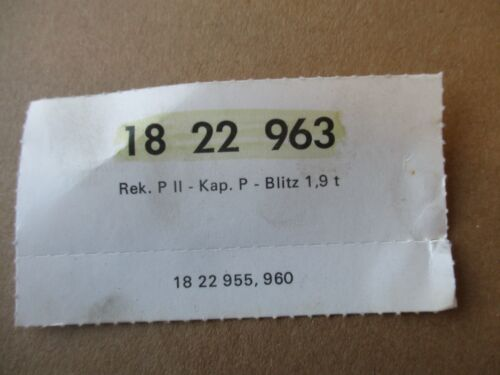 Opel Rekord p1 p2 capitán p botón Control deslizante calefacción mando de set 1822963