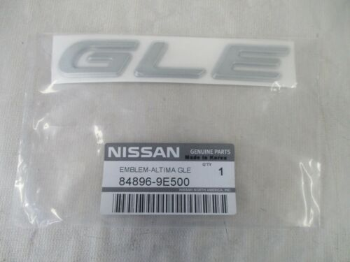 OEM 1998-2001 NISSAN ALTIMA GLE NAMEPLATE BADGE EMBLEM  84896-9E500