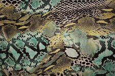 Multicolor Snakeskin Print #37 100 Rayon Challis Sewing Shirt Apparel Fabric BTY