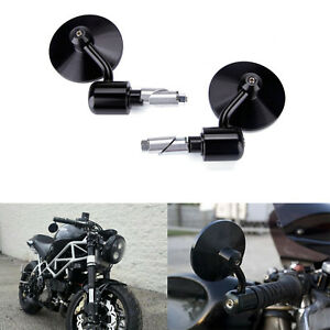 Round-7-8-034-Handle-Bar-End-Motorcycle-Side-Mirrors-For-Cafe-Racer-Bobber-Chopper