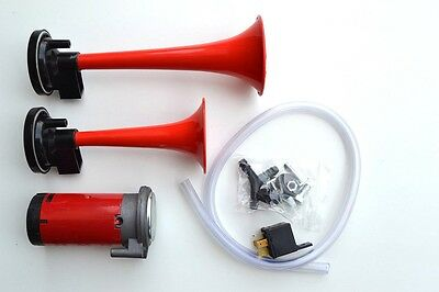 2 - Klang Fanfare / Hupe / Horn für Auto 12V Kompressor