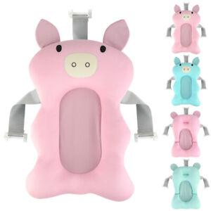 Baby-Newborn-Infant-Bath-Tub-Pillow-Pad-Lounger-Air-Cushion-Shower-Net-Bathtub