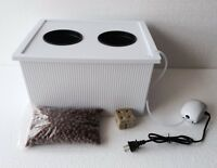 Two 6 Gallon 4 Large 5 Plant Site Hydroponic Tubs Dwc 4 Large Plant Grow System