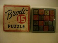 VINTAGE BRODI 15 PUZZLE MIND BENDER BRAIN TEASER WITH ORIGINAL BOX MADE IN USA