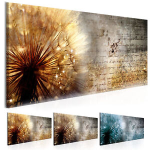 wandbilder xxl pusteblume abstrakt natur leinwand bilder wohnzimmer b c 0180 b b ebay. Black Bedroom Furniture Sets. Home Design Ideas