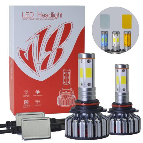9006 HB4 LED Headlight Kit 6000K 2019 192W 32000LM 4-Side Low Beam High Power