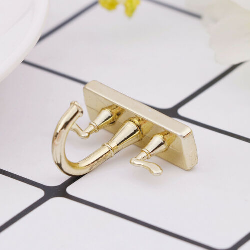 1//12 Dollhouse miniature accessories mini alloy double faucet for decoratio PB
