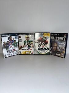 PS2 CALL OF DUTY FINEST HOUR~MADDEN 09~FIFA 06~NCAA FOOTBALL 2002 LOT OF 4
