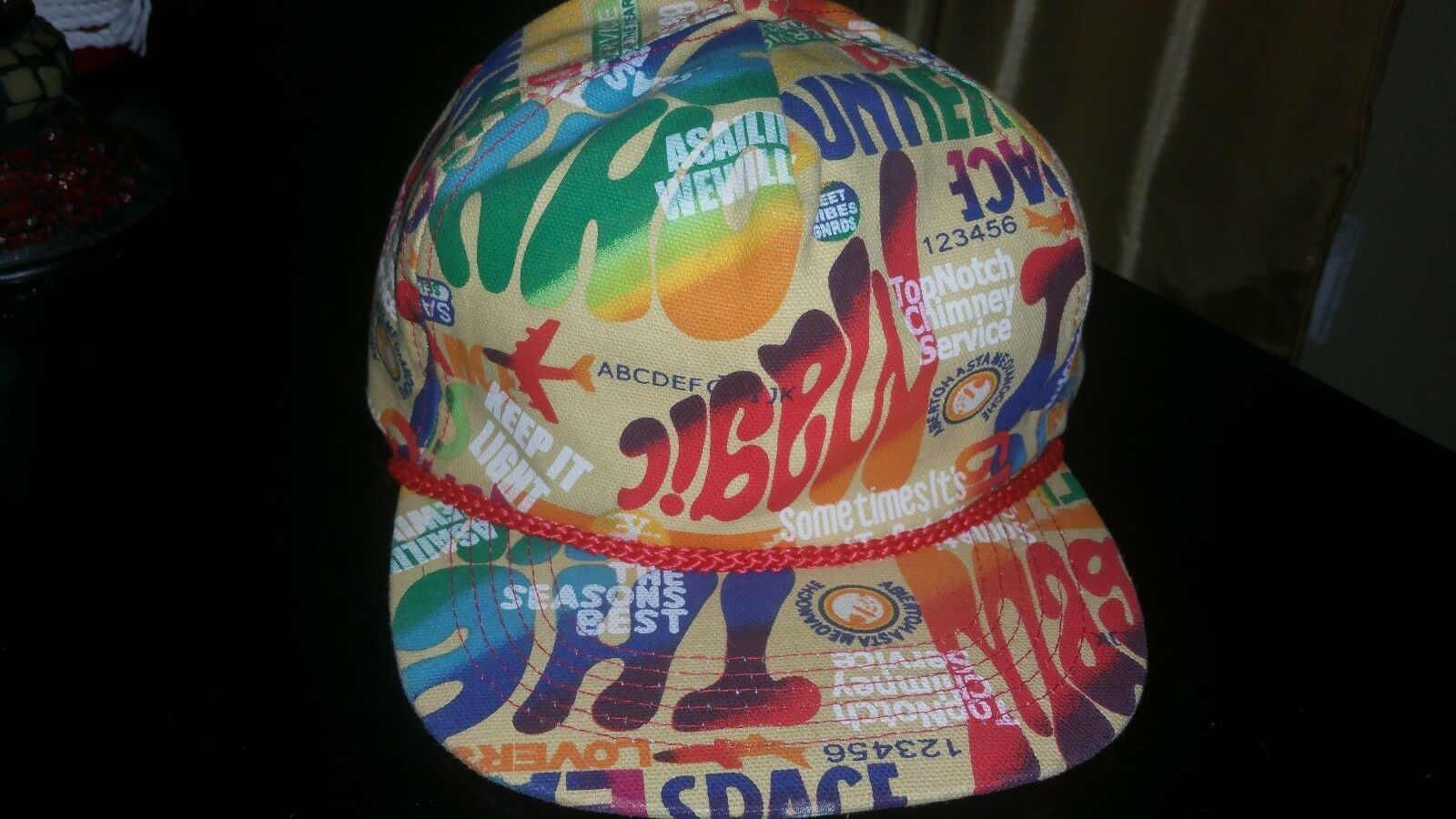 6ebcfe970420e7 where to buy 80s multi color trucker hat flat bill hat snapback air fresh  prince of