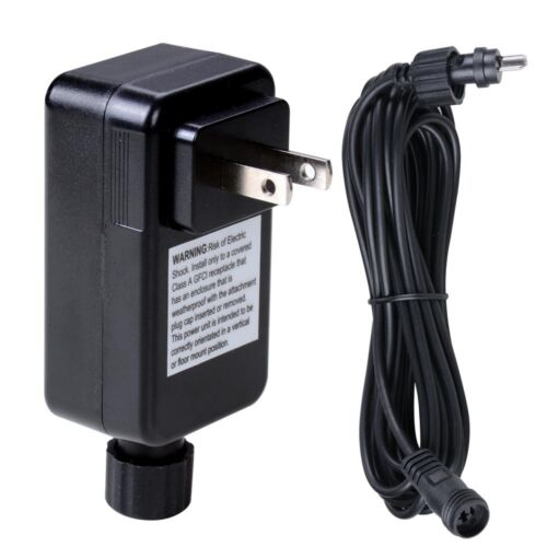 12V Transformer Plug /&16Ft Wire Cable Power Cord For 5 10 15 LED Deck Light Lamp