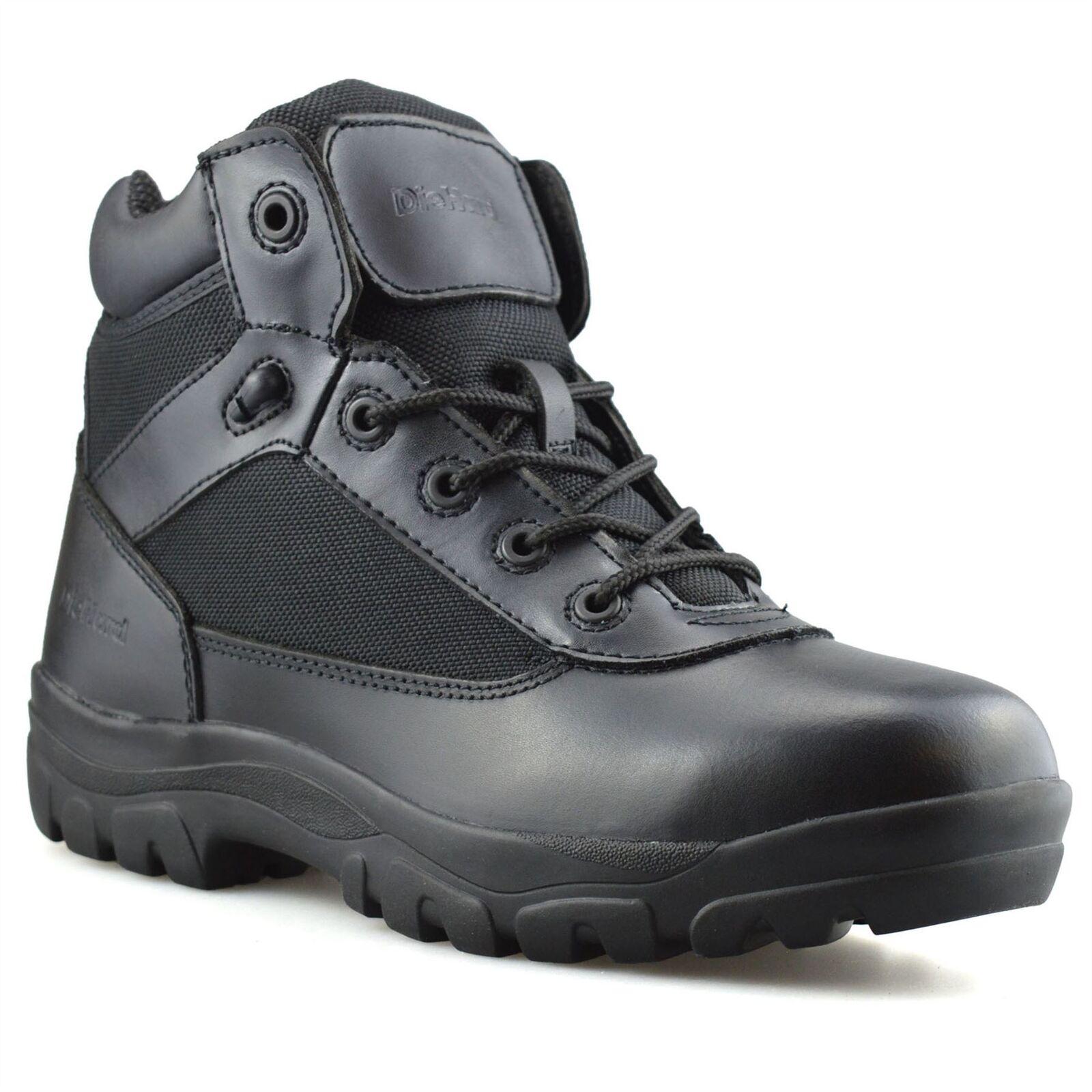 Da Uomo in Pelle Nuova Militare Dell'esercito Combat Da Passeggio Escursioni Lavoro Caviglia Stivali