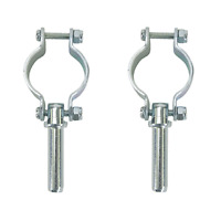 Clamp On Oar Locks, Zinc Plated Steel 582060-1